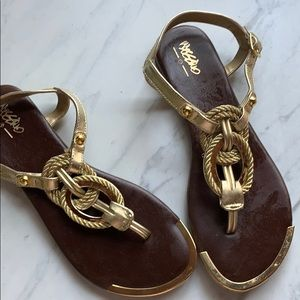 Mossimo | Gold Rope Sandals | 7